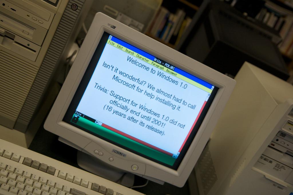 Den Anfang macht Windows 1.0 (1985)