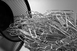 Büroklammer Quelle flickr Dean Hochman paper clips
