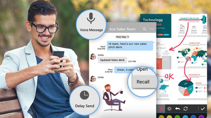 Die Cyberlink U Messenger App (Bild: Cyberlink)